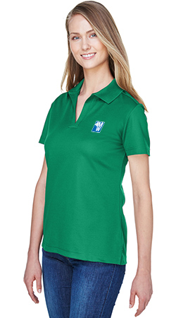 CrownLux Performance Ladies' Plaited Polo