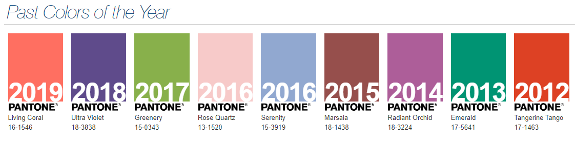 Pantone from the past